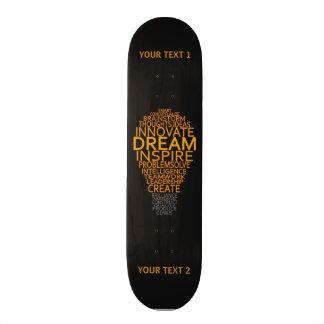 Inspirierend Glühlampegewohnheits-Skateboards Bedrucktes Skateboard