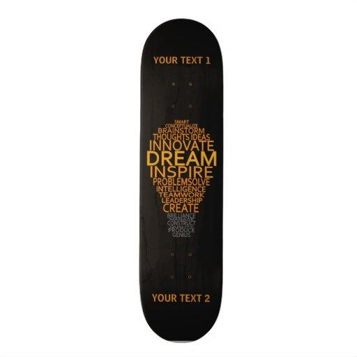 Inspirierend Glühlampegewohnheits-Skateboards Bedruckte Skateboarddecks