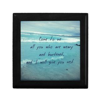 Inspirierend Gottzitat Bibel-Vers kommen zu mir Erinnerungskiste