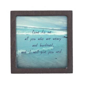 Inspirierend Gottzitat Bibel-Vers kommen zu mir Kiste