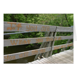 Inspirierend Grußkarten-Graffitiholzbrücke Karte