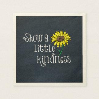 Inspirierend Güte-Zitat mit Sonnenblume Papierservietten