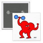 Inspirierend Herz-Gesundheits-Knopf Anstecknadelbuttons