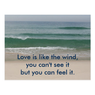 Inspirierend Karte: Liebe ist wie der Wind Postkarte