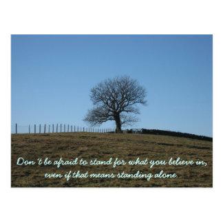 Inspirierend Karte: Stand für, was Sie herein Postkarte