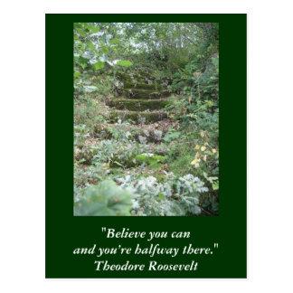 Inspirierend Karte. Zitat durch Roosevelt Postkarte