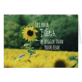 Inspirierend: Lassen Sie Ihren Glauben als Furcht Karte