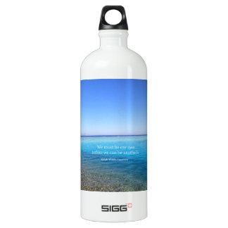 Inspirierend Leben-Zitat Aluminiumwasserflasche