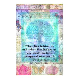 Inspirierend Leben-Zitat Briefpapier