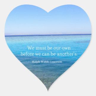 Inspirierend Leben-Zitat Herz-Aufkleber