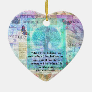 Inspirierend Leben-Zitat Keramik Ornament