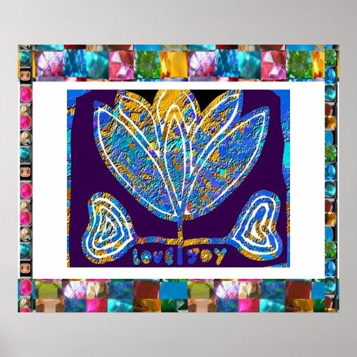 Inspirierend Lotus-Blau Poster