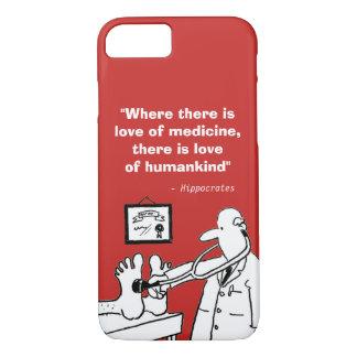 Inspirierend medizinisches Zitat und lustiges Bild iPhone 8/7 Hülle