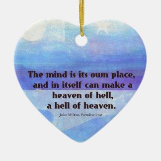 Inspirierend Milton-Zitat Paradies verloren Keramik Herz-Ornament