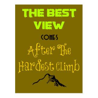 Inspirierend Motivierungs-Zitat-Typografie Postkarte