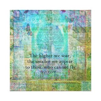 Inspirierend Nietzsche STEIGEN Zitat an Leinwanddruck