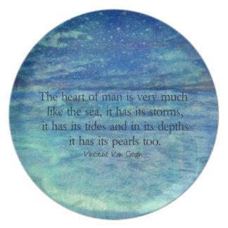 Inspirierend Ozeanseezitat Melaminteller