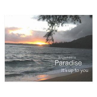 Inspirierend Paradies Postkarte