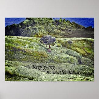 Inspirierend Plakat: Keep gehend egal was. Poster