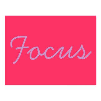 Inspirierend Postkarte - Fokus
