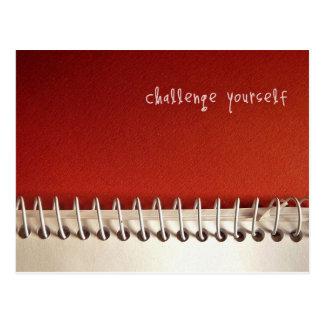 Inspirierend Postkarte: Herausforderung sich Postkarte