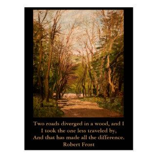 Inspirierend Postkarte Zitat Robert Frost