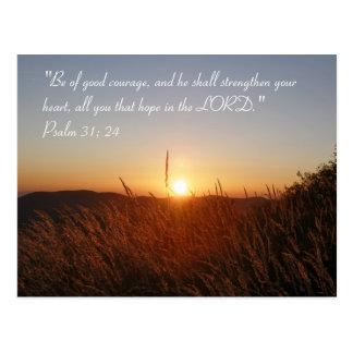 Inspirierend | Psalm-31:24 Postkarte