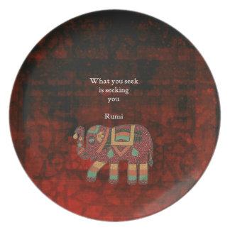 Inspirierend Rumi, was Sie Zitat suchen Melaminteller