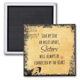 Inspirierend Schwester-Zitat Quadratischer Magnet