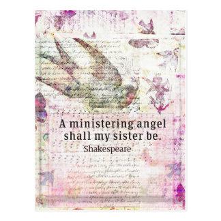 Inspirierend Shakespeare-Schwesterzitat Postkarte