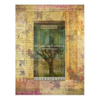 Inspirierend Shakespeare-Zitat über DIE ZUKUNFT Postkarte