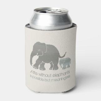 Inspirierend Spaß-Erdfarben-Elefant mit Baby Dosenkühler