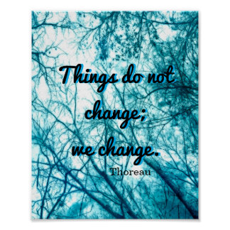 inspirierend Thoreau Zitatplakat auf Naturkunst Poster