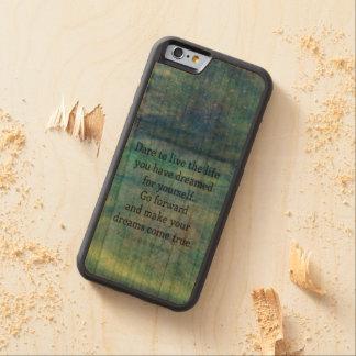 Inspirierend TRAUMzitat Bumper iPhone 6 Hülle Kirsche