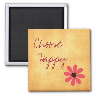 Inspirierend wählen Sie glückliches Quadratischer Magnet