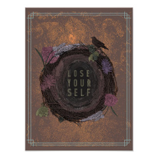 Inspirierend Wand-Plakat (rot) Poster
