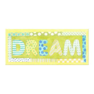 Inspirierend Wörter durch Traum Megan Meagher   Leinwanddruck