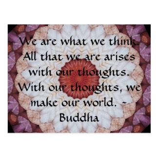 Inspirierend ZITAT Buddhas Postkarte
