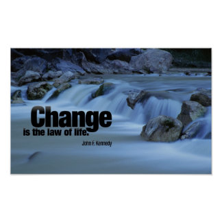 Inspirierend Zitat durch John F. Kennedy-Plakat Poster