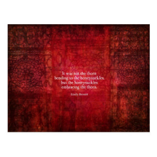 Inspirierend Zitat Emilys Bronte Postkarte