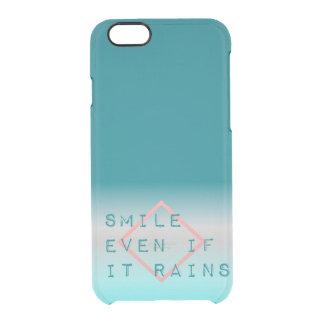 Inspirierend Zitat-grafisches Typografie-Blau Durchsichtige iPhone 6/6S Hülle