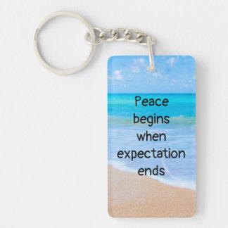 Inspirierend Zitat mit tropischer Strand-Szene Schlüsselanhänger