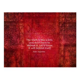 Inspirierend Zitat St Augustine auf WAHRHEIT Postkarte