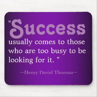 Inspirierend Zitate Thoreau: Erfolg Mauspad