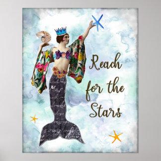 Inspirierend Zitatkunstreichweite für die Sterne Poster