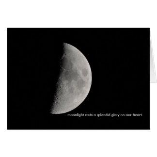 Inspiriert durch den Mond Karte