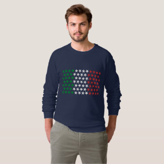 Inspiriert durch italienische Flagge. Sweatshirt