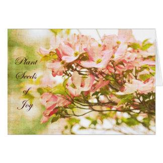 Inspirierte Hartriegel-Blumen Karte