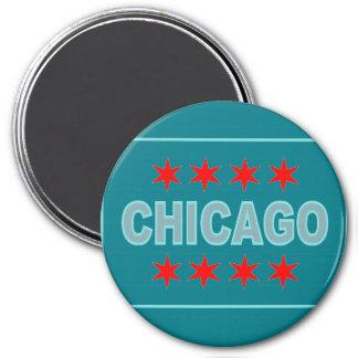Inspirierter Entwurf Chicagos Flagge Runder Magnet 7,6 Cm