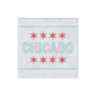 Inspirierter Entwurf Chicagos Flagge Stein-Magnet